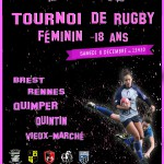 AFFICHE TOURNOI FEMININ RUGBY - 18ans QUIMPER