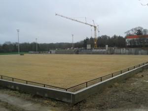 photo stade en cours